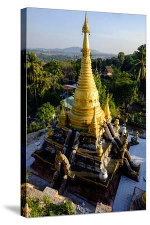 Kyaik Than Lan Pagoda, Mawlamyine (Moulmein), Myanmar (Burma), Asia-Nathalie Cuvelier-Stretched Canvas Print