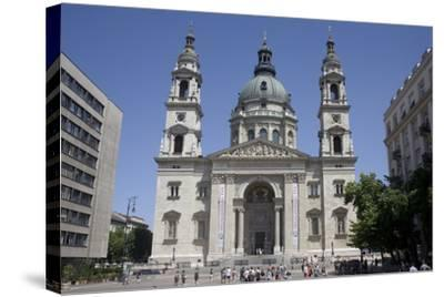 St. Stephen's Basilica, the Largest Church in Budapest, Hungary, Europe-Julian Pottage-Stretched Canvas Print