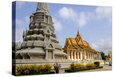 Silver Pagoda Inside the Royal Palace, Dated 19th Century, Phnom Penh, Cambodia, Indochina-Nathalie Cuvelier-Stretched Canvas Print