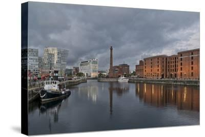 View Towards Albert Dock, Liverpool, Merseyside, England-Paul McMullin-Stretched Canvas Print