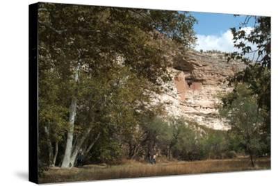 Montezuma Castle National Monument, Arizona, Usa, C. 1400. Sinagua Cliff Dwellings-Natalie Tepper-Stretched Canvas Print