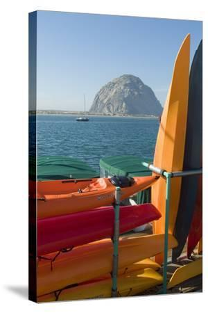 Morro Bay, California, Usa Canoes-Natalie Tepper-Stretched Canvas Print