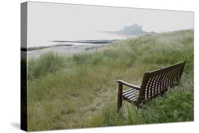 Coast Looking South with the Silhouette of Bamburgh Castle on the Horizon Bamburgh England-Natalie Tepper-Stretched Canvas Print