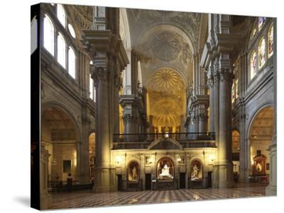 The Cathedral of Mßlaga Is a Renaissance Church in City of Mßlaga in Andalusia in Southern Spain-David Bank-Stretched Canvas Print