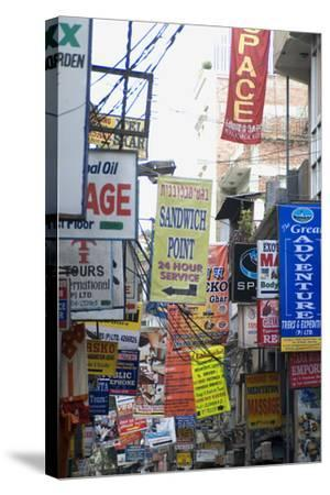 Thamel, the Most Touristy Section of Kathmandu, Nepal-Natalie Tepper-Stretched Canvas Print
