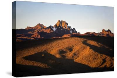 Kenya, Mount Kenya, Rutundu. Mount Kenya at Sunrise from the Northeast.-Nigel Pavitt-Stretched Canvas Print
