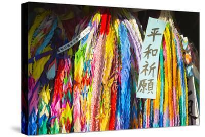 Asia, Japan, Kyushu, Nagasaki, Peace Park, Peace Cranes in Memory 1945 Atomic Bomb Victims-Christian Kober-Stretched Canvas Print