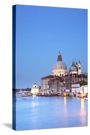 Italy, Veneto, Venice. the Church of Santa Maria Della Salute and the Grand Canal. Unesco.-Ken Scicluna-Stretched Canvas Print