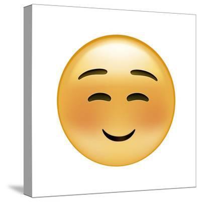 Emoji Squint Small Smile-Ali Lynne-Stretched Canvas Print