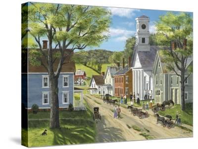 After Church-Bob Fair-Stretched Canvas Print