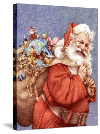 Finished Santa-Anne Yvonne Gilbert-Stretched Canvas Print