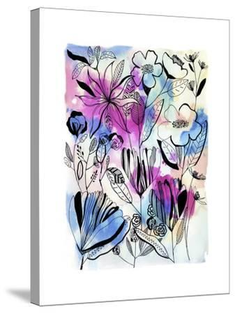 Flowers at Night-Cayena Blanca-Stretched Canvas Print