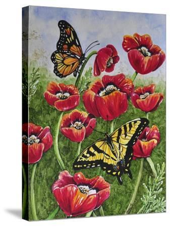Monarch and Swallowtail-Charlsie Kelly-Stretched Canvas Print