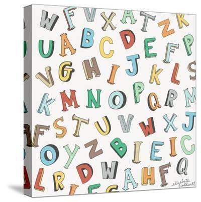 Alphabet Animals Letters-Elizabeth Caldwell-Stretched Canvas Print