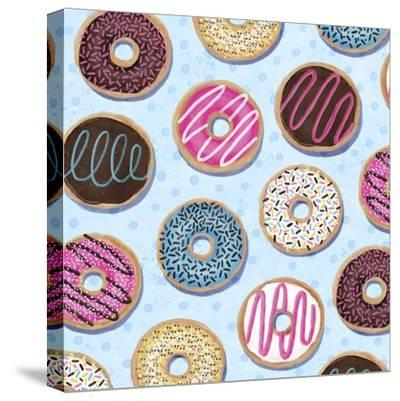 Tossed Painterly Donuts-Elizabeth Caldwell-Stretched Canvas Print
