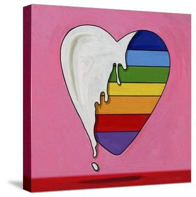 Pop Art Heart Drip-Howie Green-Stretched Canvas Print