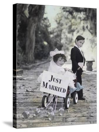 Just Married-Gail Goodwin-Stretched Canvas Print