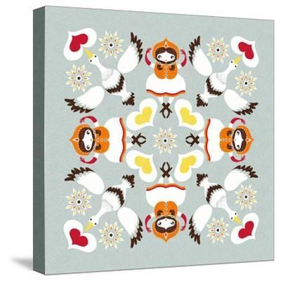 Ducks Pillow-Gaia Marfurt-Stretched Canvas Print