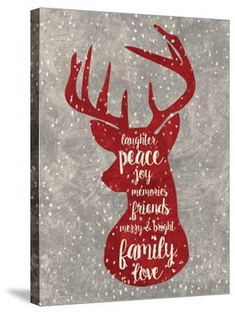 Xmas Deer-Erin Clark-Stretched Canvas Print