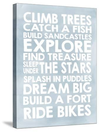 Climb Trees-Erin Clark-Stretched Canvas Print