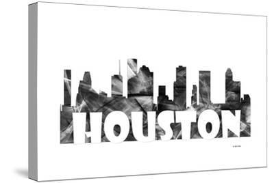 Houston Texas Skyline BG 2-Marlene Watson-Stretched Canvas Print