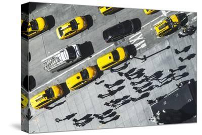 Shadows in NY-Moises Levy-Stretched Canvas Print