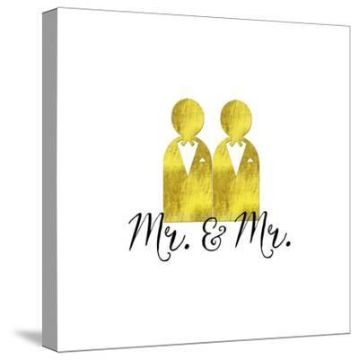 Wedding Couple Mr Mr-Tina Lavoie-Stretched Canvas Print