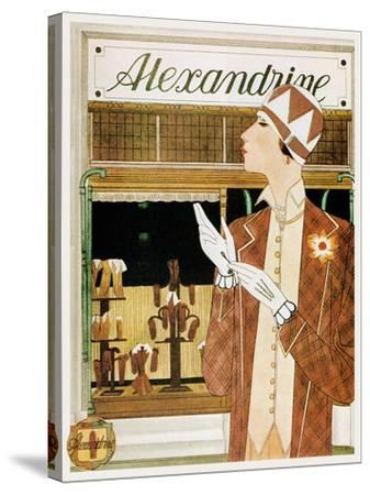 Alexandrine Gloves Accessories Paris 1925-Vintage Lavoie-Stretched Canvas Print