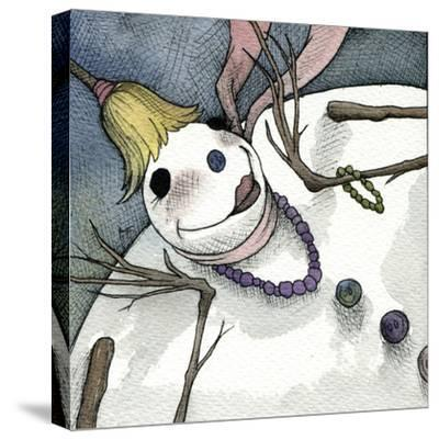 Snowman III-Kory Fluckiger-Stretched Canvas Print