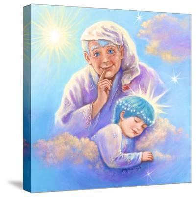 Man in the Moon and Sleeping Twinkle Star-Judy Mastrangelo-Stretched Canvas Print