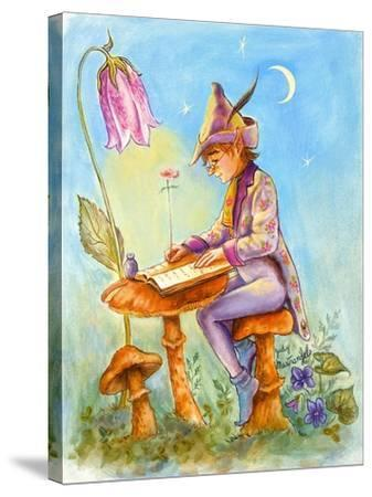 Elf Scribe-Judy Mastrangelo-Stretched Canvas Print