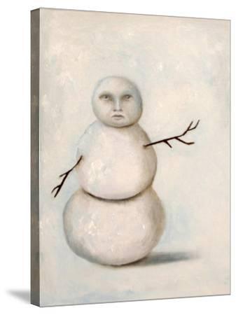 Snowman-Leah Saulnier-Stretched Canvas Print