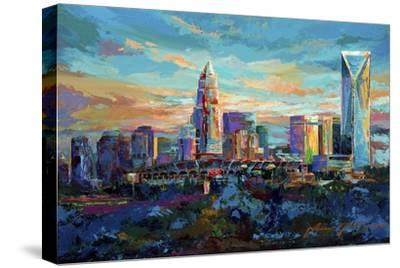 The Queen City Charlotte North Carolina-Jace D. McTier-Stretched Canvas Print
