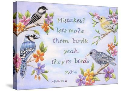 Birds and Flowers Quote-Michelle Faber-Stretched Canvas Print