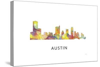 Austin Texas Skyline-Marlene Watson-Stretched Canvas Print
