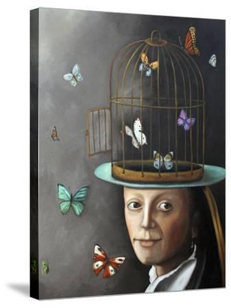 Butterfly Keeper 1-Leah Saulnier-Stretched Canvas Print