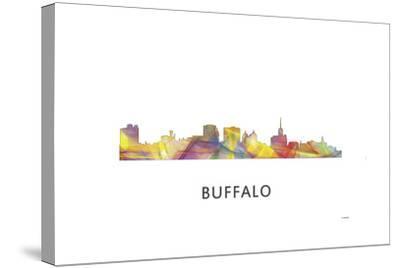 Buffalo New York Skyline-Marlene Watson-Stretched Canvas Print