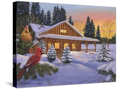 Cozy Cabin-William Vanderdasson-Stretched Canvas Print