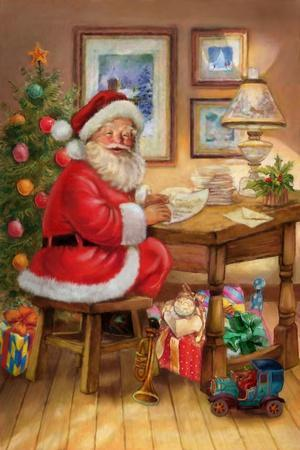 Santa-Art House Design-Stretched Canvas Print