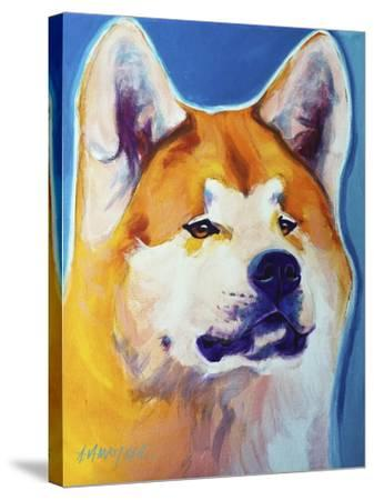 Akita - Apricot-Dawgart-Stretched Canvas Print