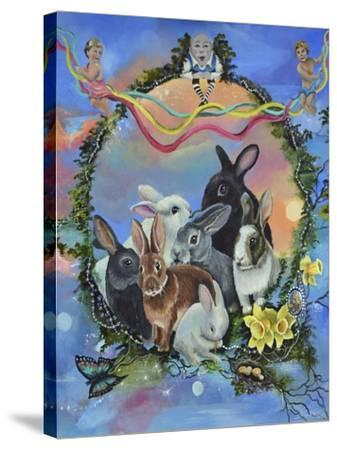 Bunny Festival-Sue Clyne-Stretched Canvas Print
