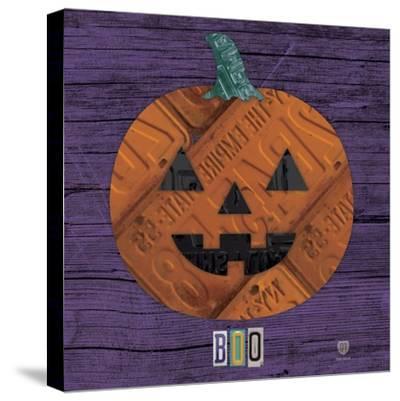 Pumpkin-Design Turnpike-Stretched Canvas Print