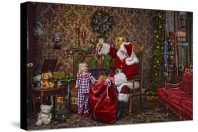 Santa-Santa?s Workshop-Stretched Canvas Print