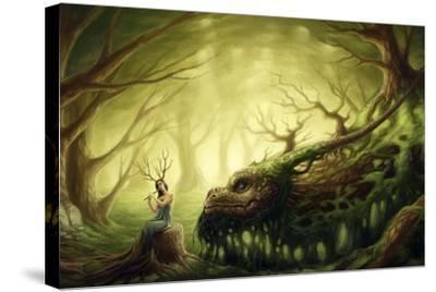 Forgotten Fairytales-JoJoesArt-Stretched Canvas Print