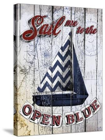 Sail Me-Art Licensing Studio-Stretched Canvas Print