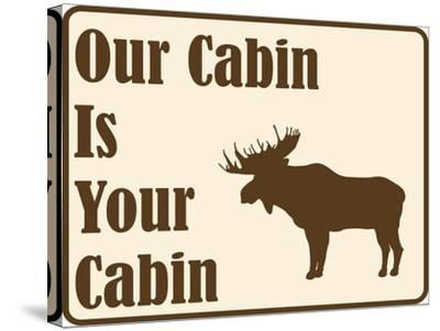 Our Cabin-Joanne Paynter Design-Stretched Canvas Print