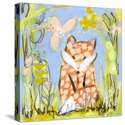 Fox in the Brambles-Wyanne-Stretched Canvas Print