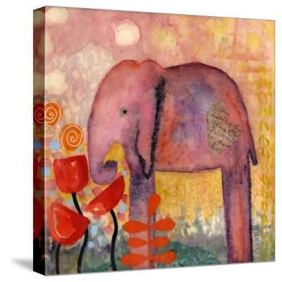 Flower Monger Elephant-Wyanne-Stretched Canvas Print