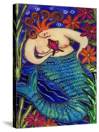 Big Diva Redhead Mermaid-Wyanne-Stretched Canvas Print