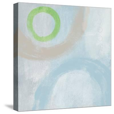 Soft Coastal Circles III-Linda Woods-Stretched Canvas Print